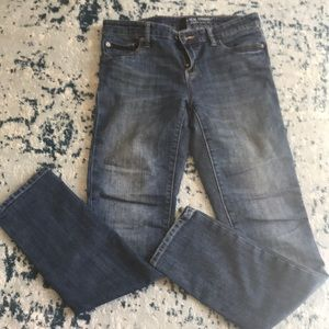Gap Real Straight blue jeans.